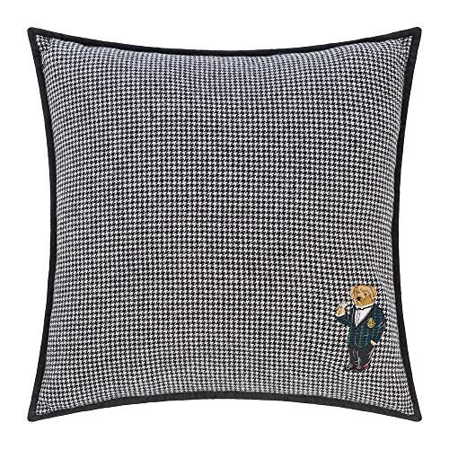 Ralph Lauren Bartley Polo Bear 100% Wool Decorative Houndstooth Throw Pillow  - 20 x 20