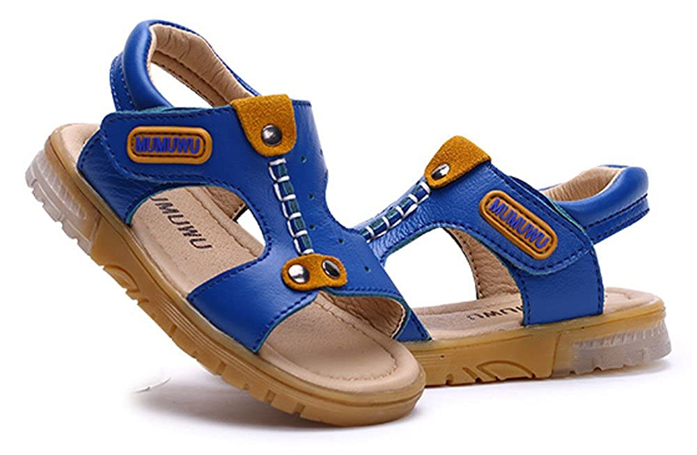 PANDA SUPERSTORE Cute Boys Beach Sandals Comfortable Summer Shoes Blue Feet Length 12.5CM