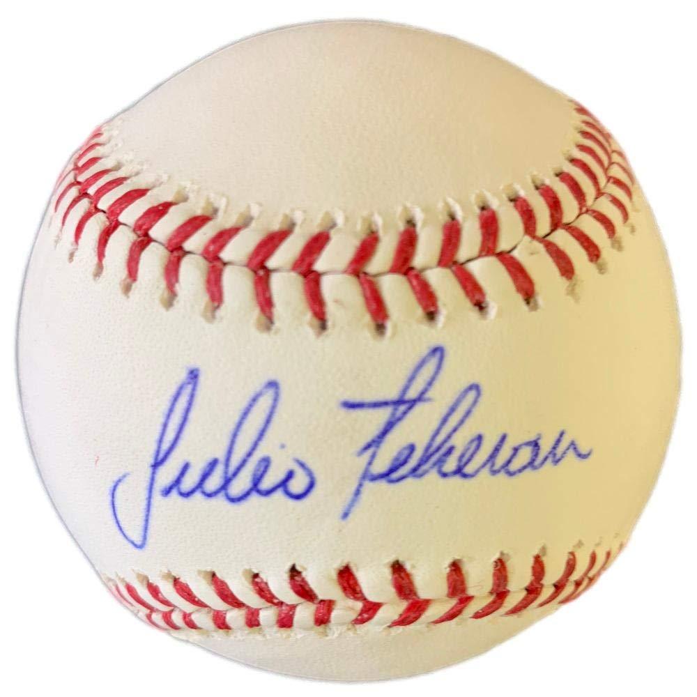 Julio Teheran Signed Atlanta Braves Official MLB Baseball w/Free Ball Cube JSA