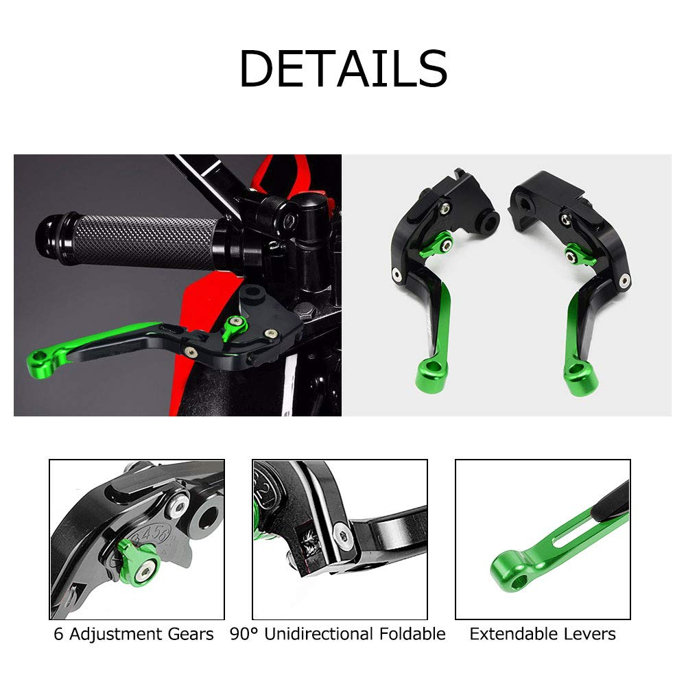 Brake /& Clutch Levers Set Foldable Extendable CNC Motorcycle Accessories For Kawasaki Z900 2017-2019 Z650 2016-2019 Versys 1000 2015-2018 VULCAN//S 650cc 2015-2019 Ninja 650R ER6-F 2017-2019