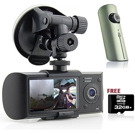 Indigi 6,86 cm LCD Dash-Cam DualCam cámara de vídeo para coche w