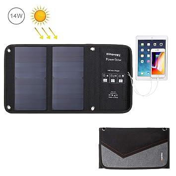 Lumiere Cargador Solar USB Doble 14W - Cargador de teléfono ...