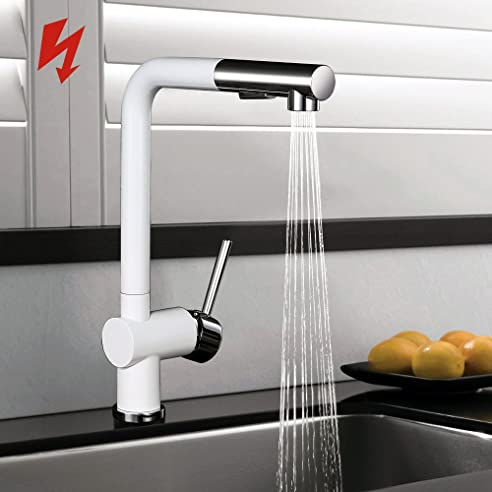 Homelody Niederdruck Küchenarmatur Wasserhahn Herausziehbar