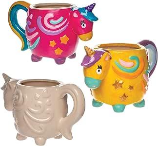 Baker Ross- Tazas de porcelana con unicornio (Pack de 2 ...