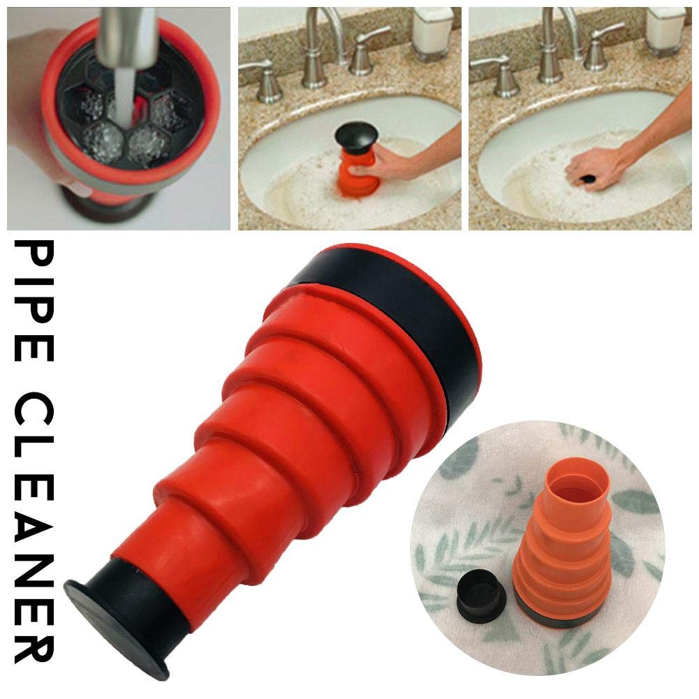 Lembeauty Power Pipe Dredging Tool Sewer Pipe Cleaner Hand-Held Toilet Vacuum Sewer Device Cleaning Tool