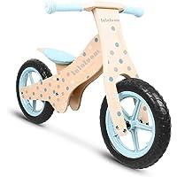Lalaloom BUBBLE BIKE - Bicicleta sin pedales de madera para niños de 2 años (diseño topos, andador para bebe…