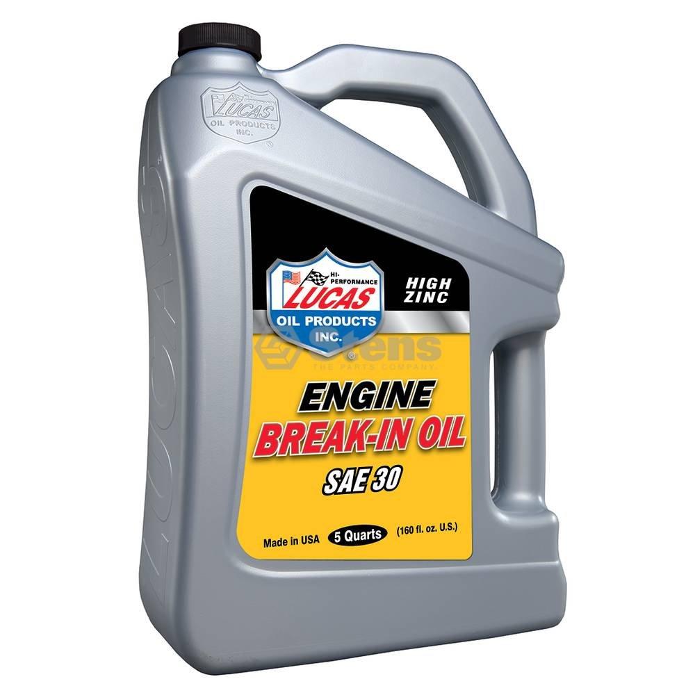 Lucas Oil SAE 30 Break-in Oil / 5 Quart Bottles/Case Of 3