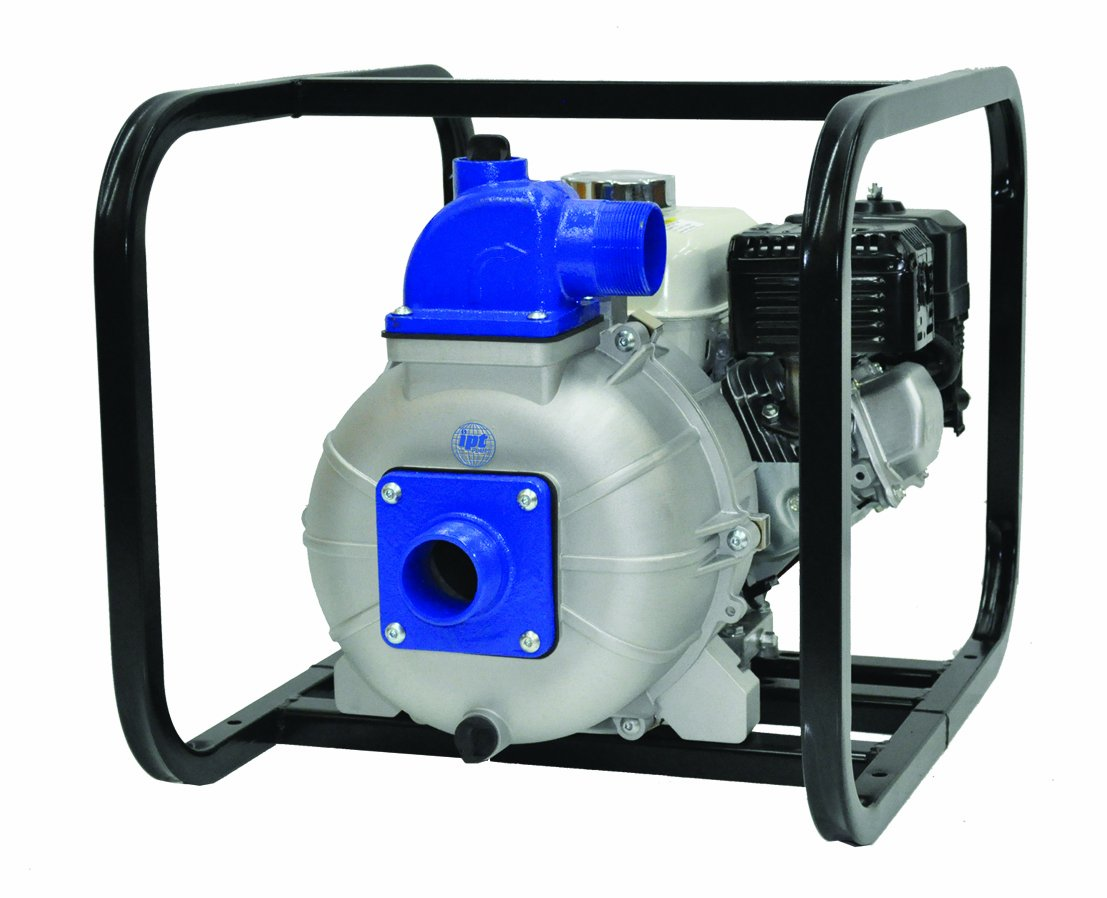 IPT Pump 2P5XHR Engine Driven Portable High Pressure Pump with Honda GX160 Engine, Aluminum, Curve C, 2'' NPT Male Suction & Discharge Ports by AMT Pumps