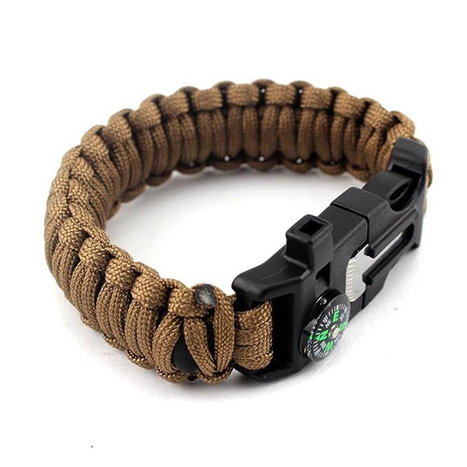 mhgao emergencia pulsera Kit, cable de paracaídas, Fire Starter ...