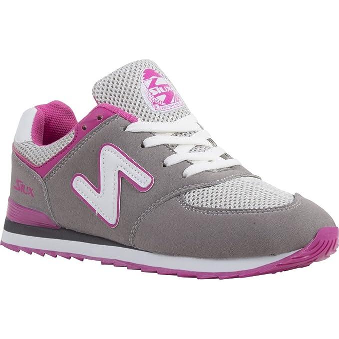 Siux zapatos mujer Tsunami grises rosa: Amazon.es: Deportes ...