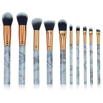 3736efc02861 Amazon.com: Honhui Makeup Brush Set,10 Pcs Marble Professional Face ...