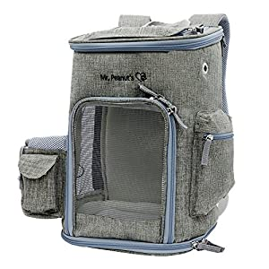 Mr. Peanut's Backpack Pet Carrier, Soft Sided Tote for Smaller Cats & Dogs, Check Sizing Before Purchase, Premium Zippers, Locking Clasps & Fleece Padding. Designed for Biking, Travel, Hiking & Fun 47