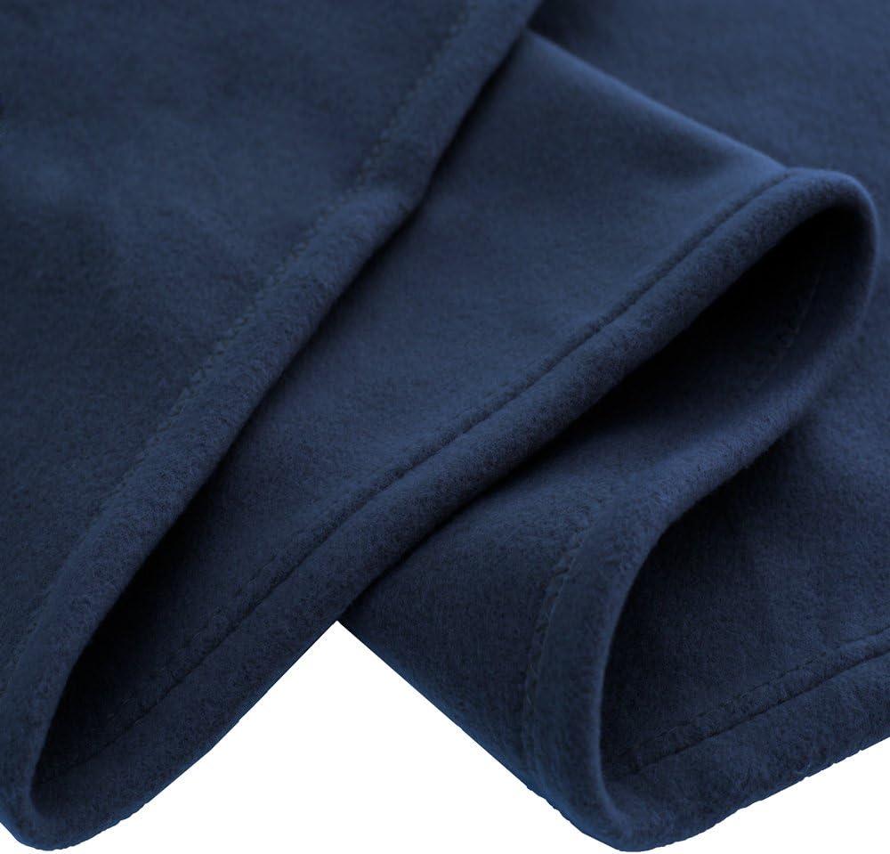 Bare Home Polar Fleece Blanket - Full/Queen - Warm Cozy - Hypoallergenic Premium Poly-Fiber Yarns - Thermal - Lightweight Bed Blanket (Full/Queen, Dark Blue): Home & Kitchen