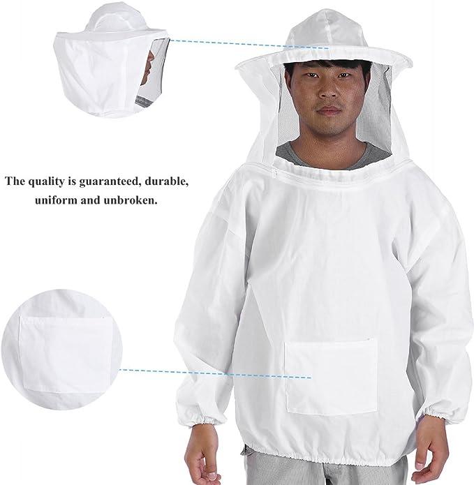 Zerodis Traje de abeja profesional Apicultura chaqueta con ...