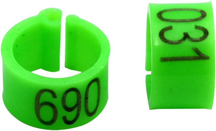Green Farm /& Ranch Pigeon feet rings with number 001-100 diameter 8mm poultry feet rings for chicks Parrot Chicks Leg Band Duck Clip Rings Bands