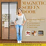 Magnetic Screen Door with Mesh Curtain keeps air in and keeps Bugs & Mosquitoes Out.Toddler And Pet Friendly. Fits Door Openings up to 34