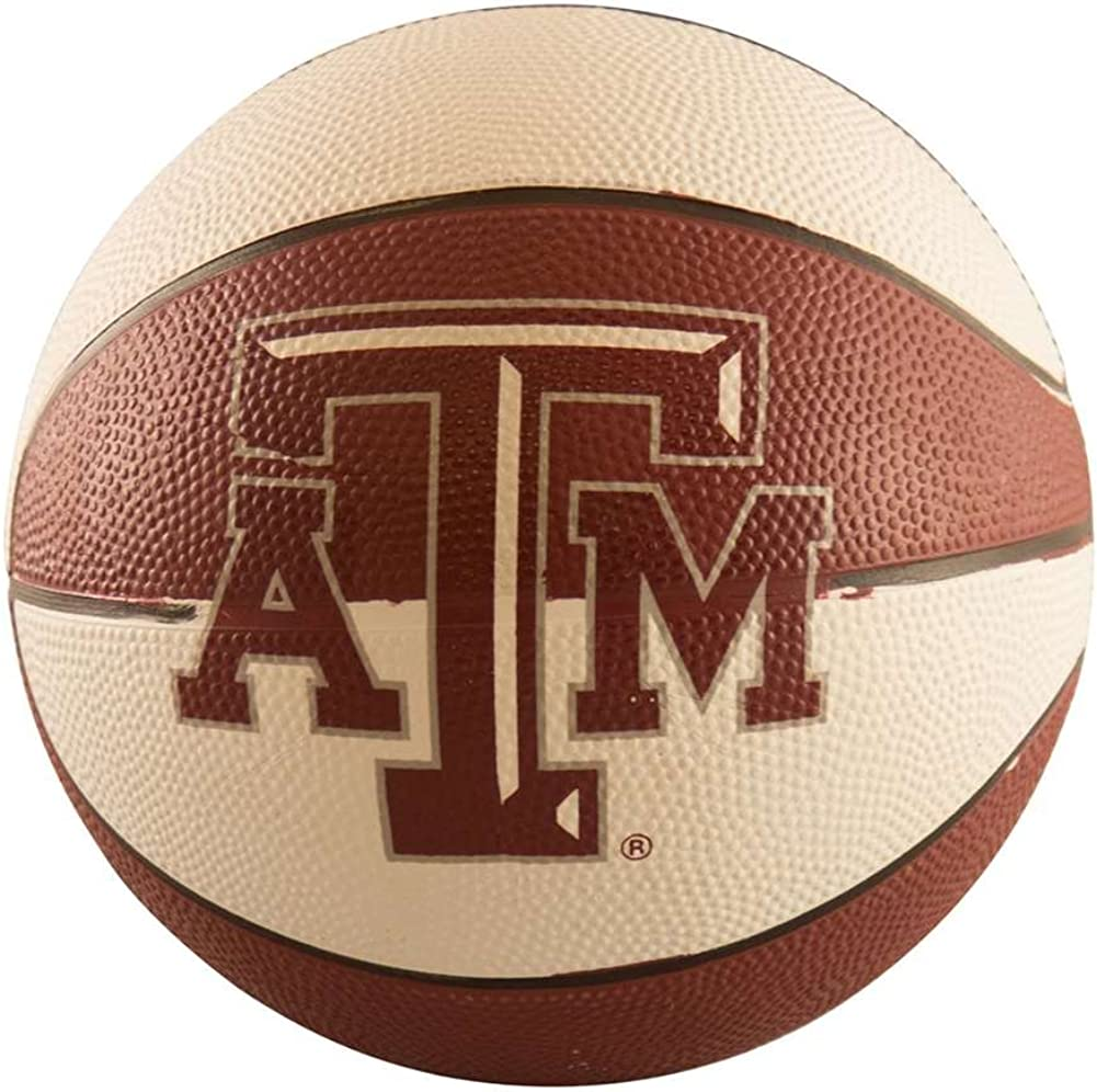 logobrands NCAA Unisex Mini-Size Rubber Basketball
