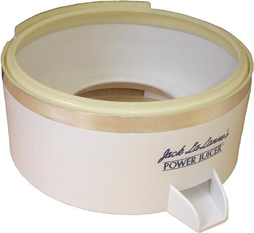 Jack LaLannes Juicer Model CL-003AP Juice Collector Separator Spout Bowl Replacement Part White
