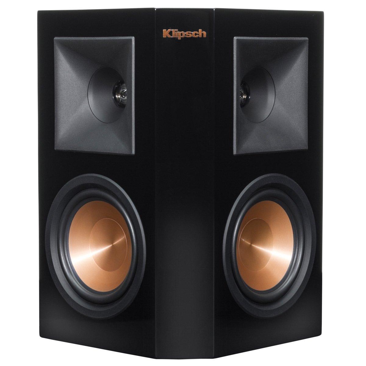Klipsch RP-250S Reference Premiere Surround Speaker with Dual 5.25'' Cerametallic Cone Woofers - Single Speaker (Piano Black)