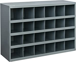 """Durham 357-95 Gray Cold Rolled Steel 32 Opening Bin with Slope Self Design, 33-3/4"""" Width x 19-1/4"""" Height x 12"""" Depth"""