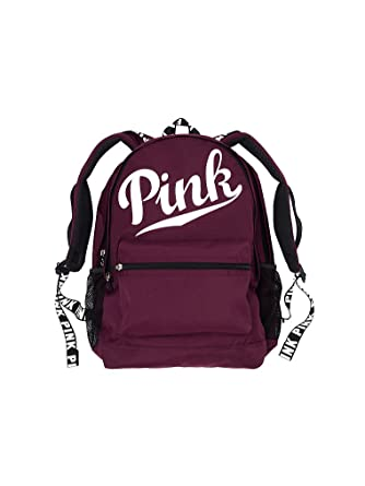 Amazon.com | Victoria's Secret Pink Campus Backpack- Black Orchid ...