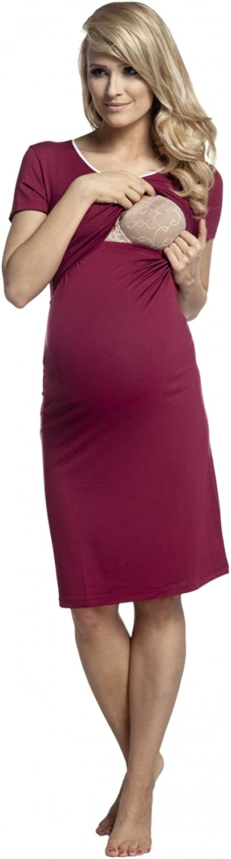 Happy Mama 274p Womens Maternity Nursing Breastfeeding Nightdress Shirt Gown