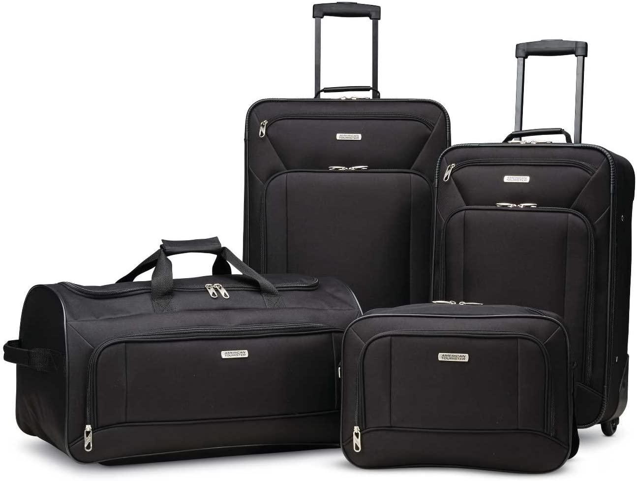 American Tourister Fieldbrook XLT Softside Upright Luggage, Black