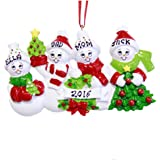 Family of 4 Snowman Personalized Christmas Ornament - Free Customization