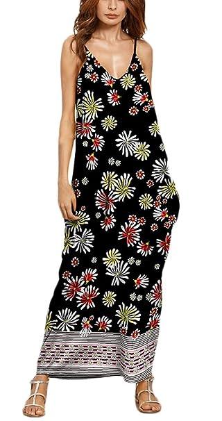 Vestidos Mujer Verano Largos Vintage Estampados Bohemio Estilo Etnica Elegantes Ropa Marcas V Cuello Hippies Casual
