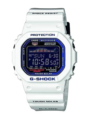 Casio GWX-5600C-7ER - Reloj digital de cuarzo para hombre con correa de resina, color blanco: Amazon.es: Relojes