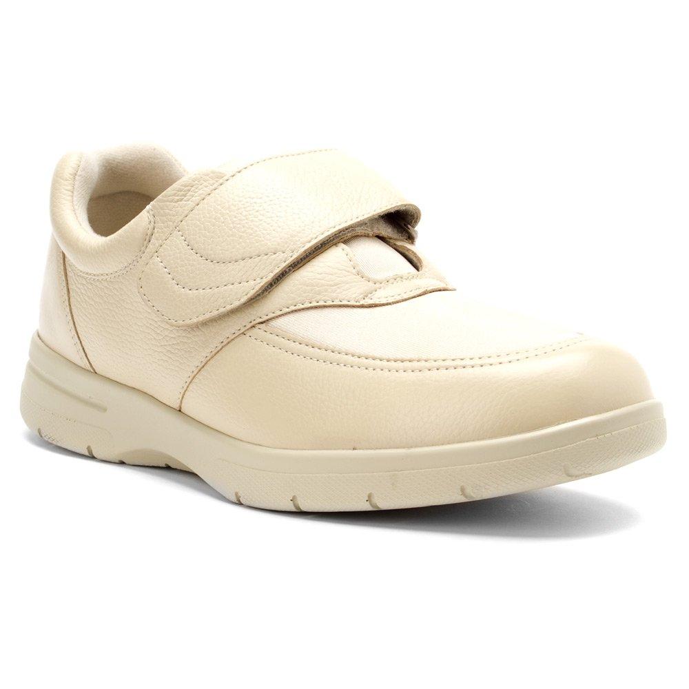Drew Shoe Men's Journey Sneakers 7.5 2E US|Bone Leather / Bone Stretch