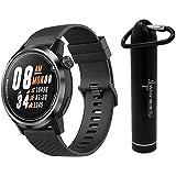 Coros APEX Premium Multisport Watch with Wearable4U Compact Power Bank Bundle (46mm, Black/Gray)
