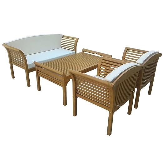 gartenmoebel-einkauf Malaga - Conjunto de muebles (4 piezas ...