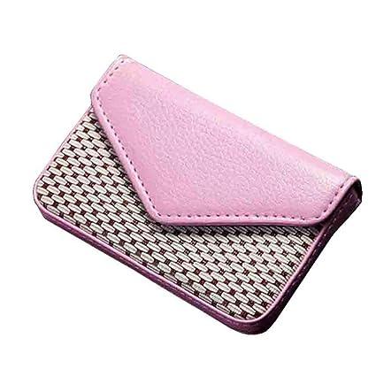 Amazon fashion leather business card holder case with magnetic fashion leather business card holder case with magnetic shut case wallet credit book pink colourmoves