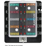 auxiliary automotive fuse box holder add 6 fused. Black Bedroom Furniture Sets. Home Design Ideas