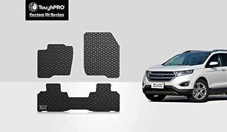Toughpro Ford Edge Floor Mats Set All Weather Heavy Duty Black Rubber