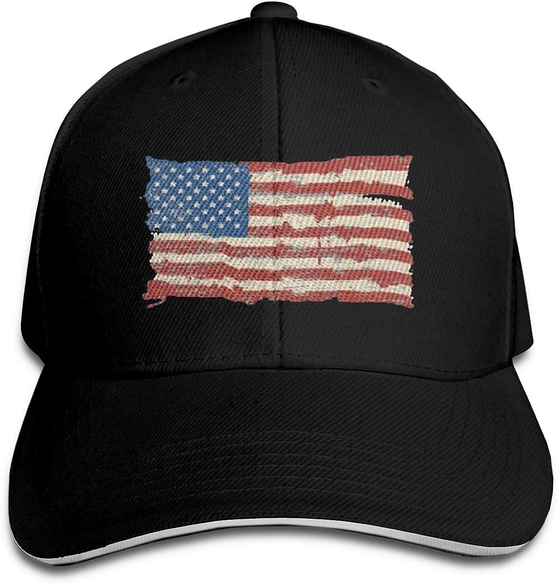 American Flag Classic Adjustable Cotton Baseball Caps Trucker Driver Hat Outdoor Cap Black