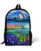 Cool 3D mountain Children 16-inch School Book Bag Printing Backpacks For Kids,Boys or Girls