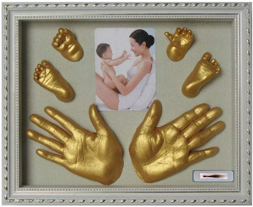 WHAEOSKH 3D Plaster Handprint Footprint Baby Mould Hand/&Foot Casting Prints Kit Baby Cast Gift