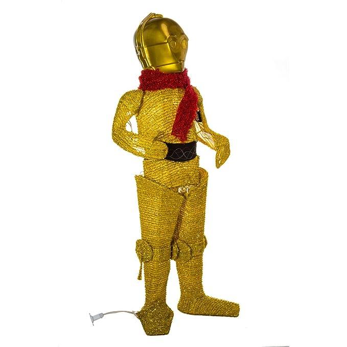 Amazon.com: Kurt Adler C3PO Lighted espumillón para césped ...
