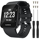 "QGHXO Band for Garmin Forerunner 35, Soft Silicone Replacement Watch Band Strap for Garmin Forerunner 35 Smart Watch, Fit 5.11""-9.05"" (130mm-230mm) Wrist"