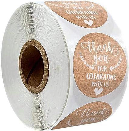 500pcs//roll Thank You Handmade con Love Adesivi Sigillante Etichetta per Matrimonio Confezione Regalo Pacchetto Cancelleria