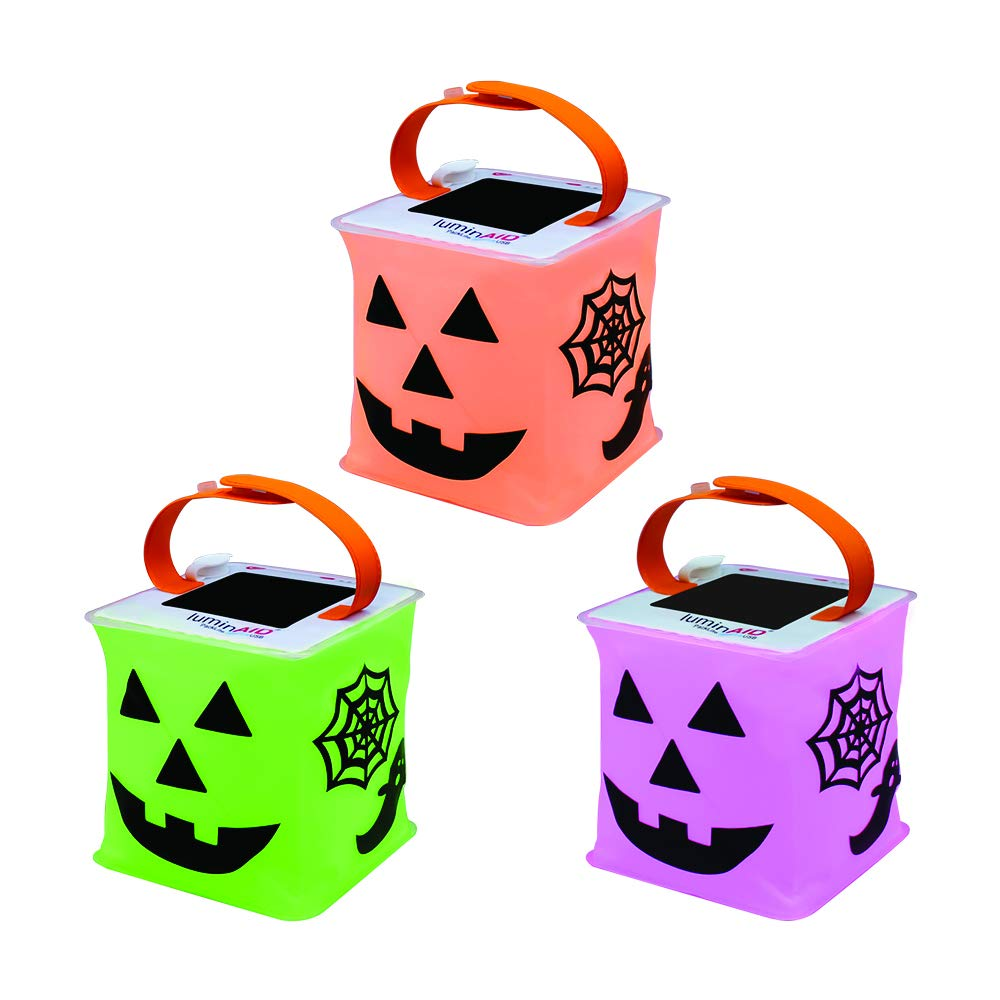 LuminAID Halloween Solar Jack-o-Lantern Customizable and Great for Trick-or-Treating