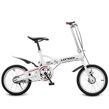 Xiaoping Bicicletas para niños, bicicletas plegables, bicicletas para niños y niñas, 16 pulgadas