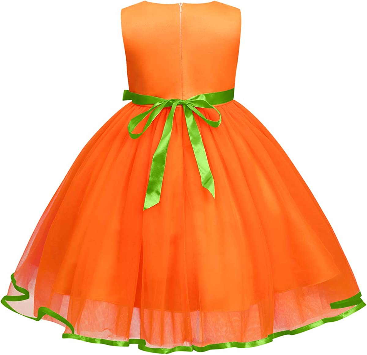 First Halloween Princess Dress Up Costume for Newborn Toddler Baby Girls Tutu Cartoon Pumpkin Ghost Pageant Birthday Wedding Party Fancy Photo Prop Christmas Carnival Cosplay Clothes Infant Playwear