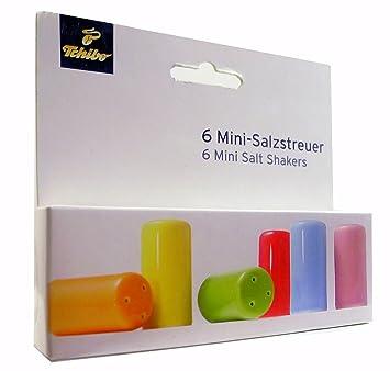 Mini Salzstreuer tcm tchibo 6 mini salzstreuer aus qualitätsporzellan bunt höhe ca 4