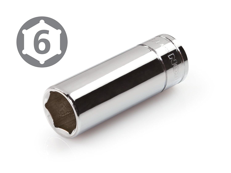 TEKTON 14257 1//2-Inch Drive by 17mm Deep Socket 6-Point Cr-V