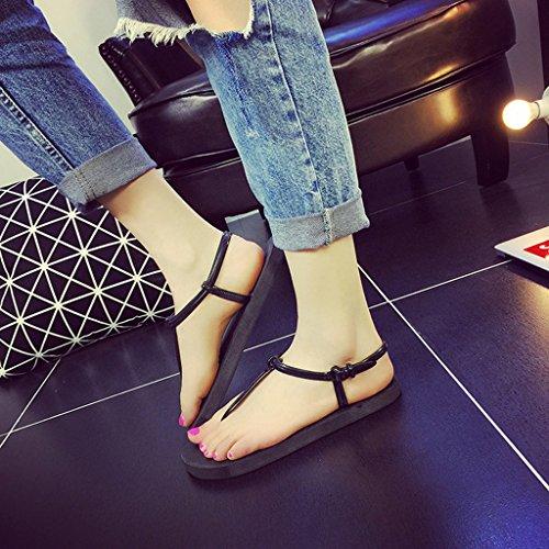 MagiDeal Zapatos para Mujer Sandalias Elegante de Chicas Chanclas de Muchacha Casual Negro