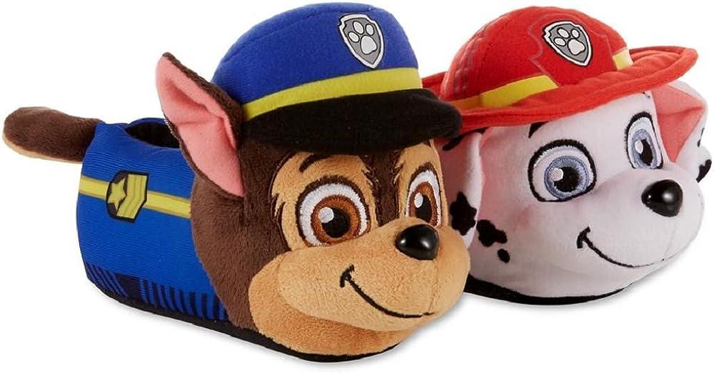 Nickelodeon Paw Patrol Boys/Girls Chase & Marshall Slippers