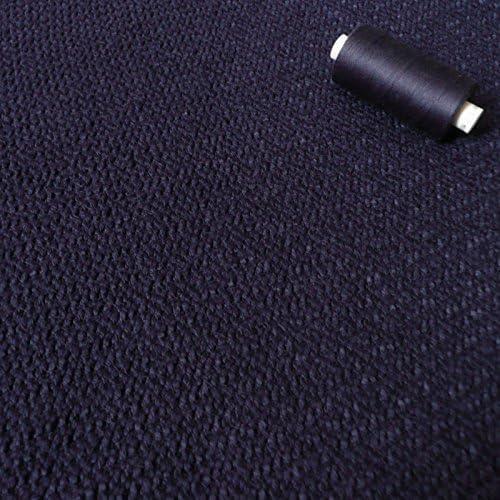 Azul marino de punto grueso de tela Tweed cinta rizada 100 ...